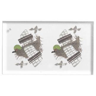 Portatarjetas de la tabla plana de la paloma soporte de tarjeta de mesa