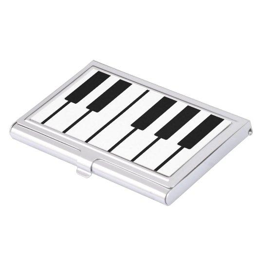Portatarjetas de llaves del piano del pianista caja para tarjetas de visita