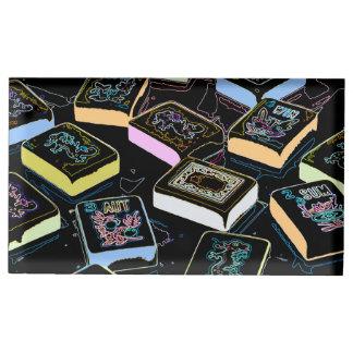 Portatarjetas de los dragones del Mah Jongg Soporte Para Tarjeta De Mesa