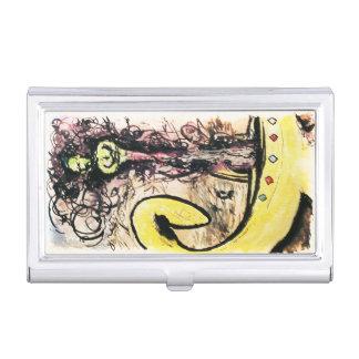 Portatarjetas de los genios de la lámpara/caja cajas de tarjetas de presentación