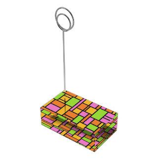 Portatarjetas geométrico de la tabla del modelo soporte de tarjeta de mesa