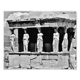 Pórtico de la cariátide del Erechtheion Arte Con Fotos