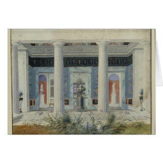 Pórtico del jardín, c.1834 tarjeta de felicitación