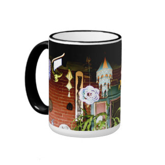 Pórtico festivo taza de dos colores