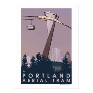 Portland, escena de la tranvía de OregonAerial Postal