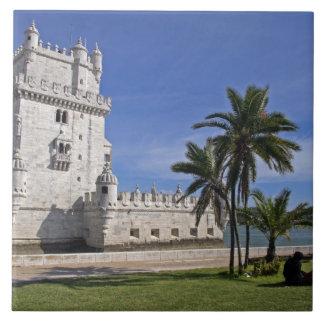 Portugal, Lisboa. Torre de Belem, un mundo 2 de la Azulejo Cuadrado Grande