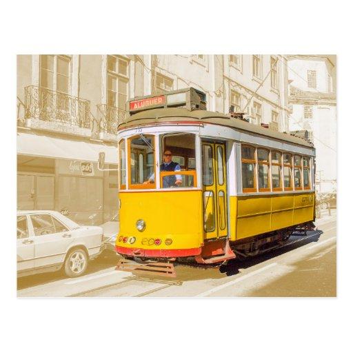 Portugal - tranvía clásico de Lisboa Postales
