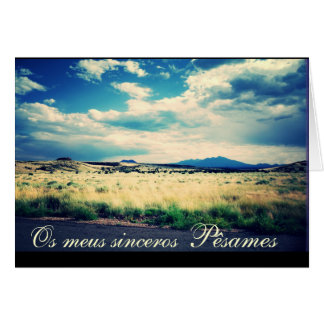 Portugués: Campina del paisagem de Pesames e Tarjeta De Felicitación