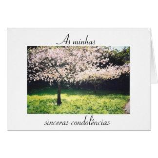 Portugués Condolencia de Pêsames frase inspiraci Tarjetas