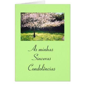 Portugués: Condolencias/Pesames/Sympathy Tarjeta De Felicitación