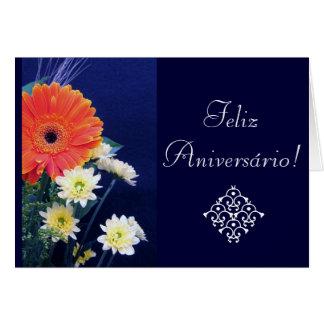 Portugués: Cumpleaños/Aniversario Tarjeton