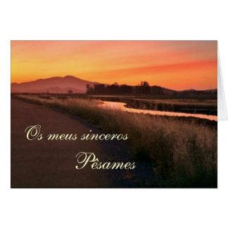 Portugués: El por del paisagem de Pesames e hace Tarjeta De Felicitación