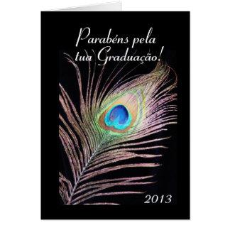 Portugués Graduación 2013 de Graduação Tarjeta