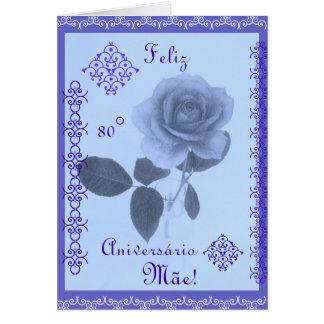 Portugués: ¡Mamá del feliz cumpleaños! Tarjeta De Felicitación