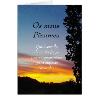 Portugués Pesames condolencia Tarjetón