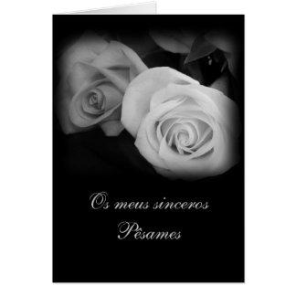 Portugués Pesames Condolencias Felicitación