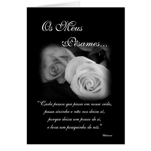 Portugués: Poema de Condolencias Felicitación