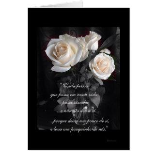 Portugués: Poema de Condolencias Tarjeta De Felicitación