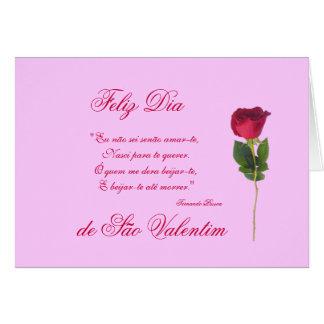 Portugués poema del amor y el día de las rosa-Tar