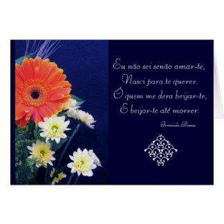 Portugués: Poema São Valentim del amor Tarjeta De Felicitación