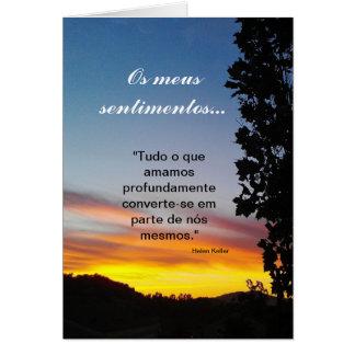 Portugués: sentimentos/condolencia Pêsames Tarjeta De Felicitación