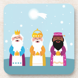 Posavasos 3 reyes pintados a mano