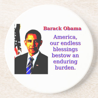 Posavasos América nuestras bendiciones sin fin - Barack