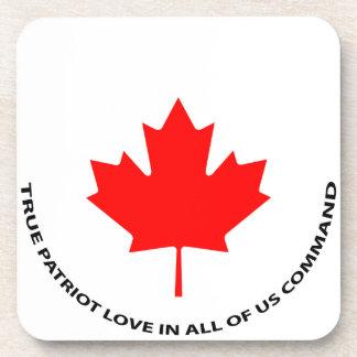 Posavasos Amor verdadero del patriota en todos nosotros