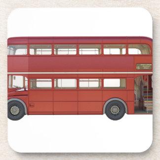 Posavasos Autobús del rojo del autobús de dos pisos