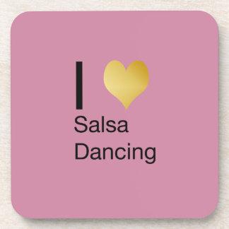 Posavasos Baile juguetónamente elegante de la salsa del