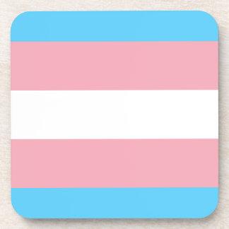 Posavasos Bandera del orgullo del transexual - arco iris del