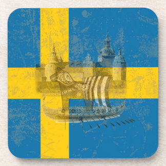 Posavasos Bandera y símbolos de Suecia ID159