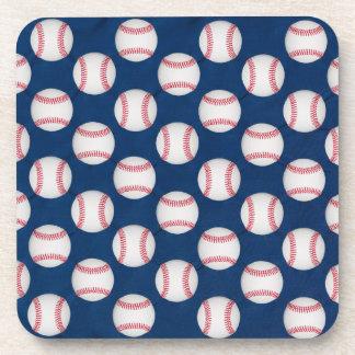 Posavasos Béisbol/práctico de costa de la bandera americana