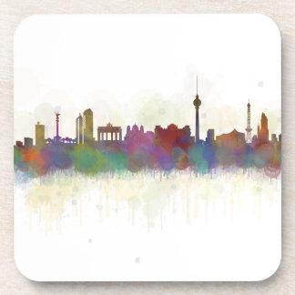 Posavasos Berlin city Germany. Deutsche Skyline art v2