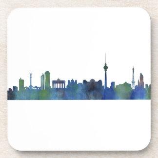 Posavasos Berlin city Germany Skyline art watercolor