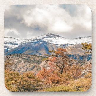 Posavasos Bosque y montañas Nevado, Patagonia, la Argentina