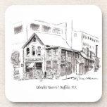 Posavasos Búfalo NY Tinta boceto Ulrich's Tavern Bar Pub