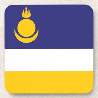 Posavasos Buriatia señala por medio de una bandera