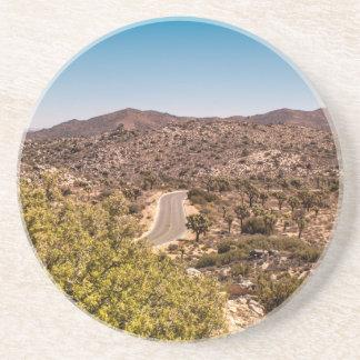 Posavasos Camino solo del desierto de la yuca