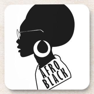 Posavasos Camiseta negra afroamericana del regalo del AFRO