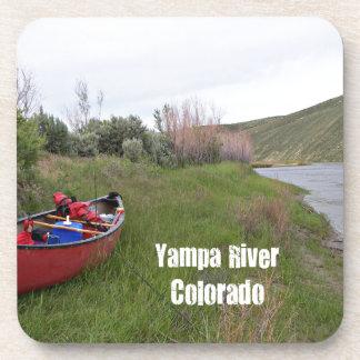 Posavasos Canoa que acampa, río de Yampa, CO