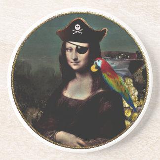 Posavasos Capitán del pirata de Mona Lisa