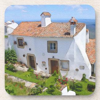 Posavasos Casa mediterránea de la acuarela