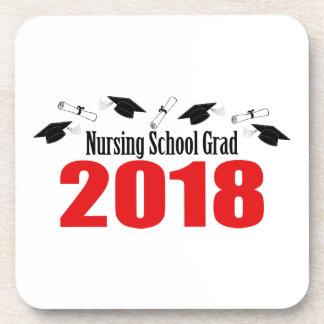 Posavasos Casquillos y diplomas del graduado 2018 de la