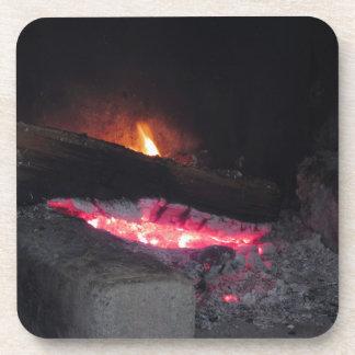 Posavasos Chapiteles del calor de la llama del fuego de
