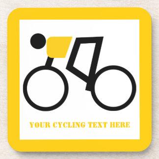Posavasos Ciclista que monta su personalizado de la