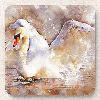 Posavasos Cisne de la acuarela