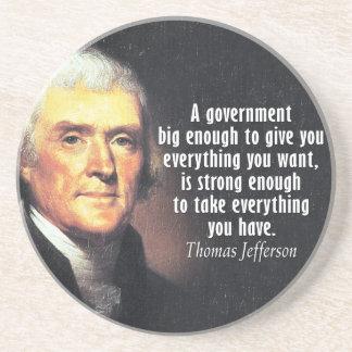 Posavasos Cita de Thomas Jefferson en el gobierno grande