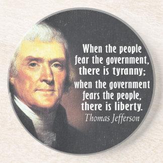Posavasos Cita de Thomas Jefferson en libertad