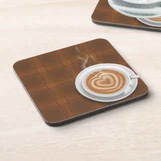 Posavasos Cocido al vapor del café al vapor caliente en la